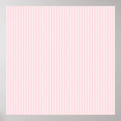 Rayas del caramelo del rosa en colores pastel posters