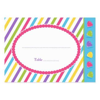 Rayas del caramelo tarjetas de visita
