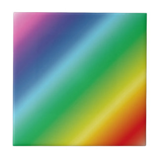 Rayas del color de la diversión azulejo cuadrado pequeño