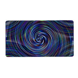 Rayas del color de Prizm en remolino gráfico del Etiquetas De Envío