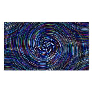 Rayas del color de Prizm en remolino gráfico del Tarjetas De Visita