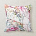 Rayas del color del fractal almohadas