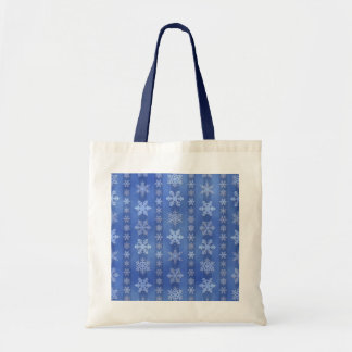 Rayas del copo de nieve - azul bolsa tela barata