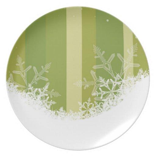 Rayas del copo de nieve plato de comida