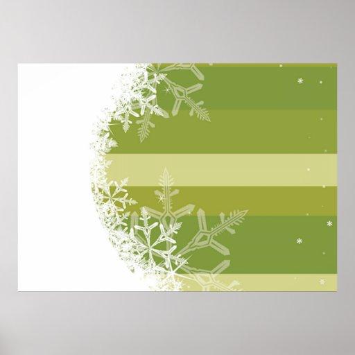 Rayas del copo de nieve poster