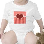 Rayas del corazón camiseta
