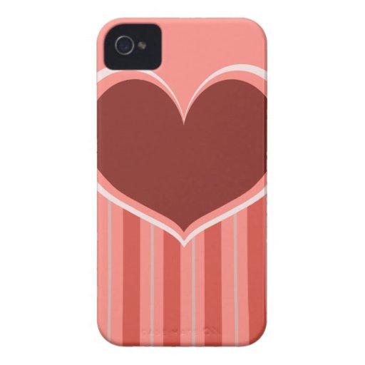 Rayas del corazón Case-Mate iPhone 4 carcasa