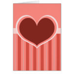 Rayas del corazón tarjeta