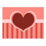 Rayas del corazón tarjetas postales