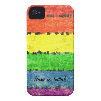 ¡Rayas del creyón del arco iris - orgullo de GLBT iPhone 4 Fundas