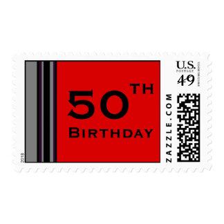 Rayas del cumpleaños sellos
