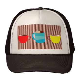 Rayas del descanso para tomar café gorra