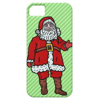 Rayas del dibujo animado del navidad de Papá Noel iPhone 5 Fundas