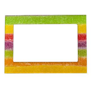 Rayas del dulce del arco iris del caramelo marcos magneticos para fotos