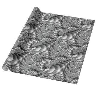 Rayas del fractal de BW Papel De Regalo