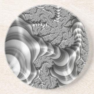 Rayas del fractal de BW Posavasos Manualidades