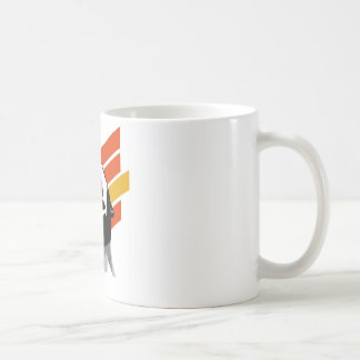Rayas del grito taza básica blanca