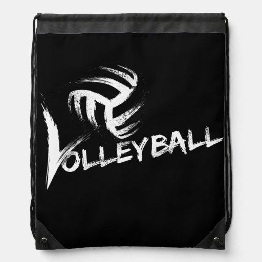 Rayas del Grunge del voleibol Mochilas