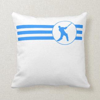 Rayas del jugador del grillo (azules) almohadas