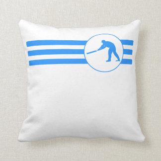 Rayas del jugador del grillo (azules) almohada