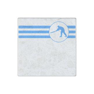 Rayas del jugador del grillo (azules) imán de piedra