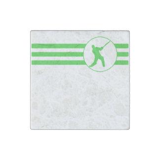 Rayas del jugador del grillo (verde) imán de piedra