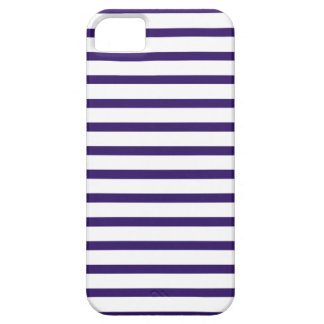 Rayas del marinero - azules marinos y blanco iPhone 5 Case-Mate fundas