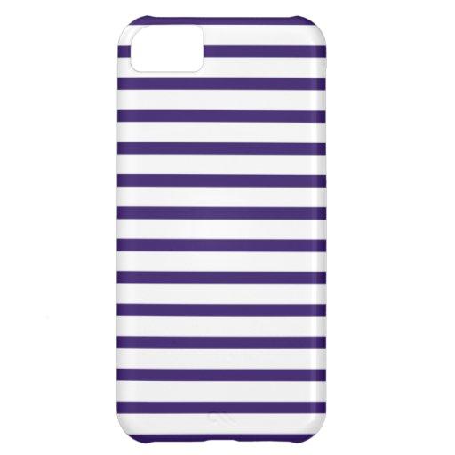 Rayas del marinero - azules marinos y blanco funda para iPhone 5C