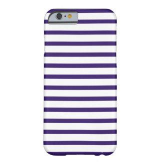 Rayas del marinero - azules marinos y blanco funda de iPhone 6 barely there