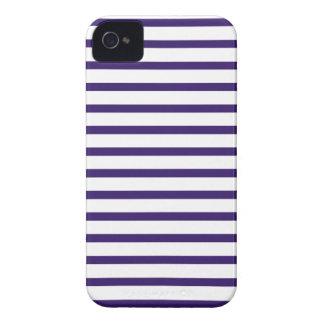 Rayas del marinero - azules marinos y blanco iPhone 4 Case-Mate protector