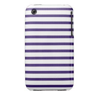 Rayas del marinero - azules marinos y blanco iPhone 3 protectores