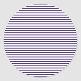 Rayas del marinero - azules marinos y blanco pegatina redonda