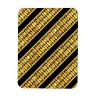 Rayas del mimbre del oro iman flexible