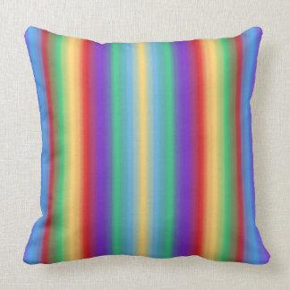Rayas del multicolor almohadas