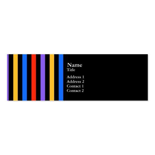 Rayas del multicolor plantillas de tarjeta de negocio