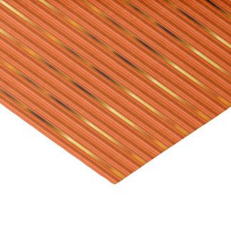 Rayas del naranja y del oro papel de seda pequeño