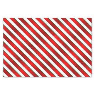 Rayas del navidad del día de fiesta de la papel de seda pequeño