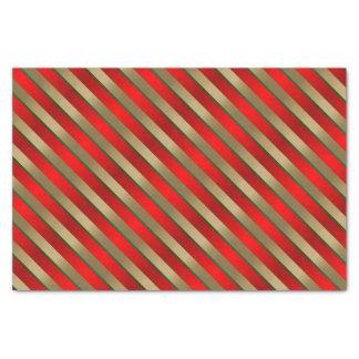 Rayas del navidad del día de fiesta papel de seda pequeño