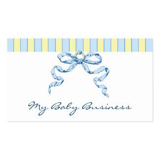 Rayas del negocio del bebé y tarjetas de visita de