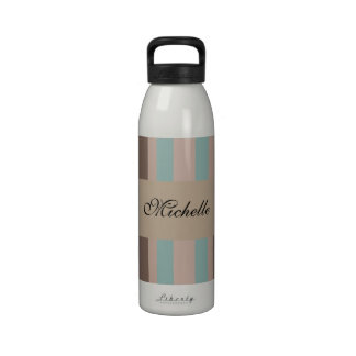 Rayas del Océano Pacífico Botellas De Agua Reutilizables