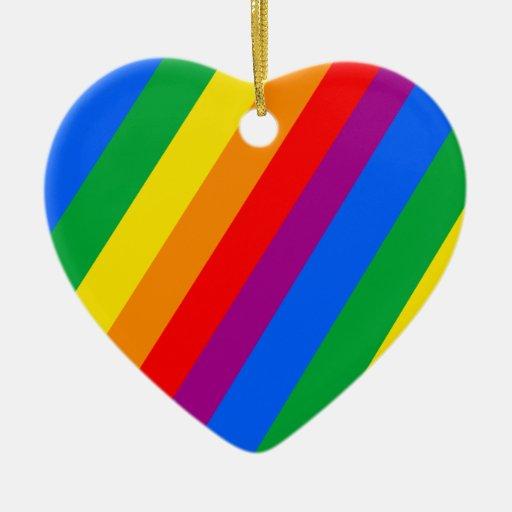 Rayas del orgullo gay ornamento para reyes magos