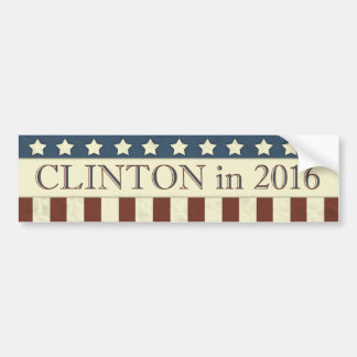 Rayas del presidente 2016 estrellas de Hillary Pegatina Para Auto