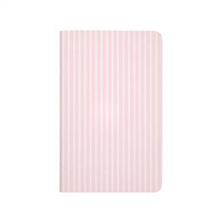 Rayas del rosa en colores pastel cuadernos