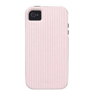 Rayas del rosa en colores pastel vibe iPhone 4 carcasa