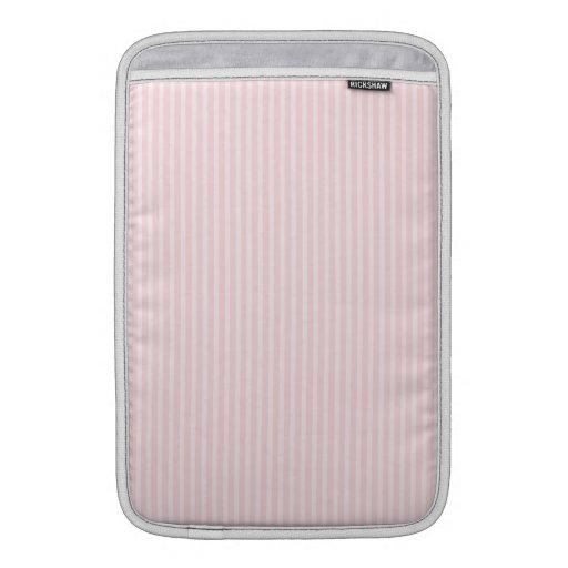 Rayas del rosa en colores pastel fundas para macbook air