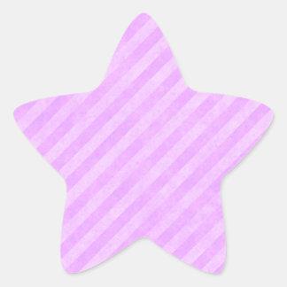 Rayas del rosa en colores pastel colcomanias forma de estrellaes personalizadas