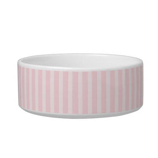 Rayas del rosa en colores pastel tazon para gato