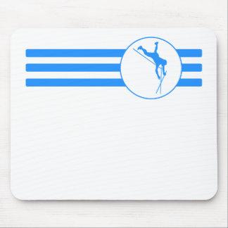 Rayas del saltador de poste (azules) alfombrilla de ratón