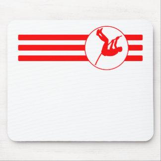 Rayas del saltador de poste (rojas) alfombrilla de ratón