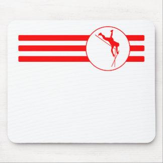 Rayas del saltador de poste (rojas) alfombrillas de ratón